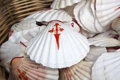 Shell Symbol de Camino de Santiago, Galicia Foto de archivo