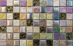 Shell tiles. Colorful tiles that can decorate the walls stock photo