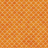 Shell Tiles Pattern Repeat Background alaranjada e branca foto de stock royalty free