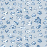 Shell undersea world pattern Royalty Free Stock Photo