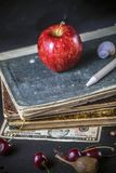 shell van de de kersenpen van het boekgeld appel stock fotografie