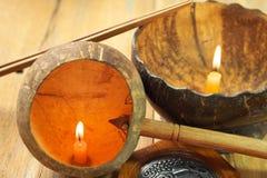 Shell van de kokosnoot Stock Foto's