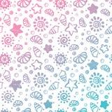 Shell van de zomer patroon vector illustratie