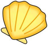 Shell van tweekleppig schelpdier. royalty-vrije illustratie