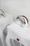 Shell in white bedside table Royalty Free Stock Photos