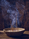 Shell wood joss stick Royalty Free Stock Photo