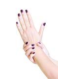 Shellac Finger Nails Stock Photos