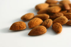 Shelled almond nuts Stock Image