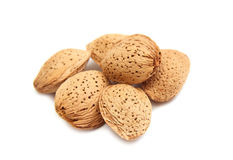 Shelled almond nuts isolated Stock Photo
