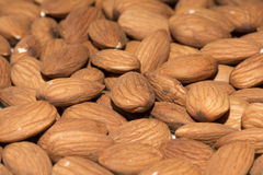 Shelled almonds closeup, background Stock Photography