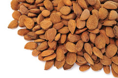 Shelled almonds Royalty Free Stock Photo