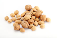 Shelled almonds Stock Photography