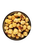 Shelled hazelnuts Royalty Free Stock Photos