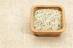 Shelled hemp seeds Royalty Free Stock Photo