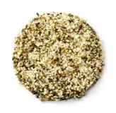 Shelled hemp seeds Stock Photography