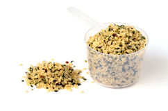 Shelled hemp seeds Royalty Free Stock Photo