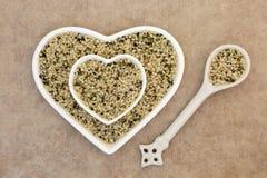 Shelled Hemp Seeds Royalty Free Stock Images