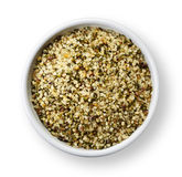 Shelled hemp seeds Stock Photography