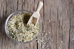 Shelled hemp seeds Royalty Free Stock Photography