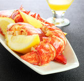 Shelled lobster meal Royalty Free Stock Photo
