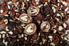 Shelled nuts Royalty Free Stock Photos