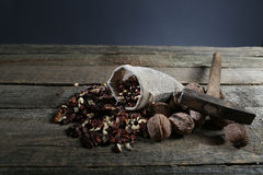Shelled nuts in a bag Royalty Free Stock Photography