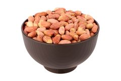 Shelled peanut in the bowl Stock Photo