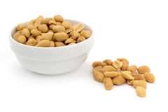 Shelled peanuts Stock Photography