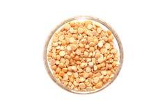 Shelled peas on white background Royalty Free Stock Image