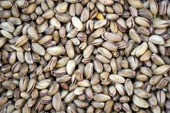 Shelled pistachio nuts stock image