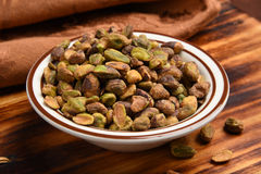 Shelled pistachios Royalty Free Stock Images