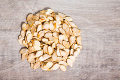 Shelled pumpkin seeds Royalty Free Stock Image