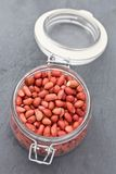 Shelled red peanuts Stock Photography