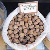 Shelled Walnuts Royalty Free Stock Images