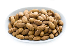 Shelled whole almond nuts Royalty Free Stock Photography