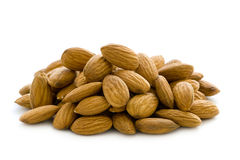Shelled whole almond nuts Royalty Free Stock Photos