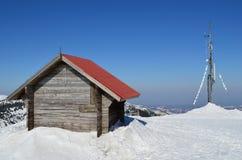 Sheller i antena w roztapiającym śniegu obrazy royalty free