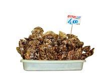 Shelles de ostra para vender imagen de archivo libre de regalías