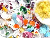 Cáscaras del huevo de Pascua Fotos de archivo