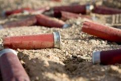 Shelles vacíos del arma del tiro Imagen de archivo libre de regalías