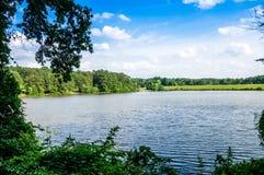 Shelley湖视图 免版税库存图片