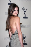 Shelley Hennig arrives at the ATAS Daytime Emmy Awards Nominees Reception Royalty Free Stock Image