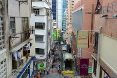 Shelley Street, Hong Kong Island Stock Images