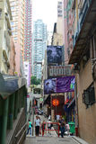 Shelley Street, Hong Kong Island Stock Photography