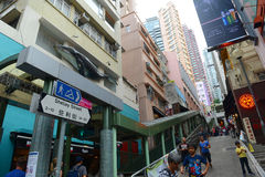 Shelley Street, Hong Kong Island Royalty Free Stock Photography