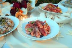 Shellfish dishes Stock Images