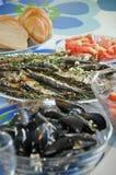 Shellfish and fish Royalty Free Stock Photo