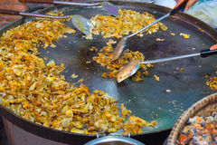 Shellfish fried. Thai cuisine. Cooking of Shellfish fried Stock Photos