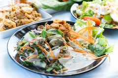 Shellfish with herb spicy salad food thai style Stock Image