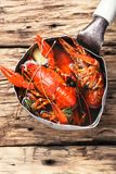 Shellfish in the pan Royalty Free Stock Photography